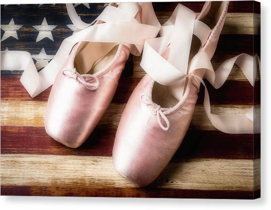 Ballet Shoes Canvas Print - American Ballet by Garry Gay