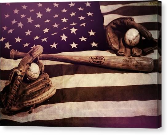Cleveland Indians Canvas Print - American Baseball Grunge by Dan Sproul