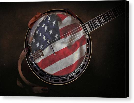 Stringed Instruments Canvas Print - American Bluegrass Music by Tom Mc Nemar