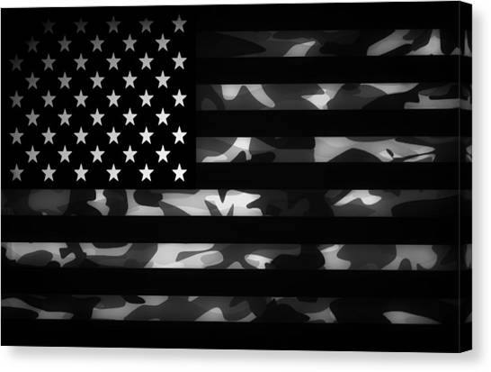 Usa Canvas Print - American Camouflage by Nicklas Gustafsson