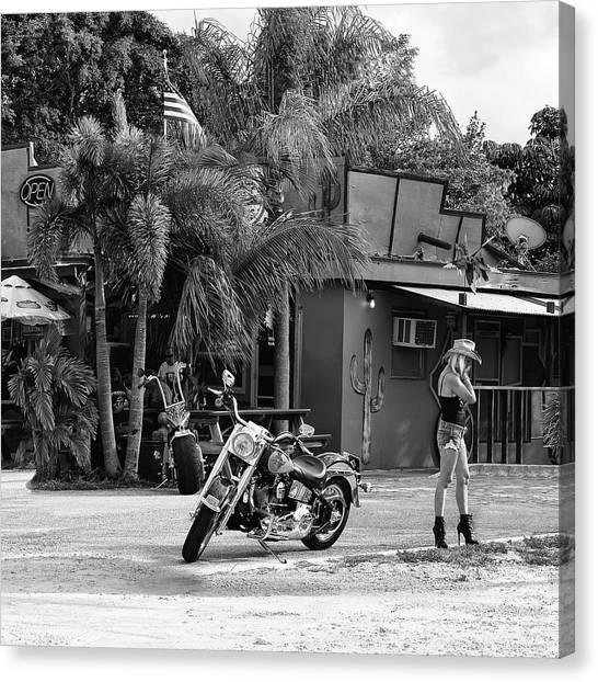 Dirt Bikes Canvas Print - American Classic by Laura Fasulo