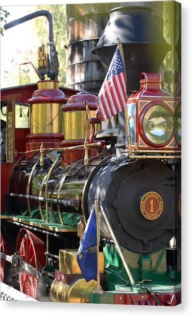American Dream Train Canvas Print by Curtis Gibson