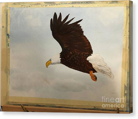 Canvas Print featuring the painting American Eagle by Donald Paczynski