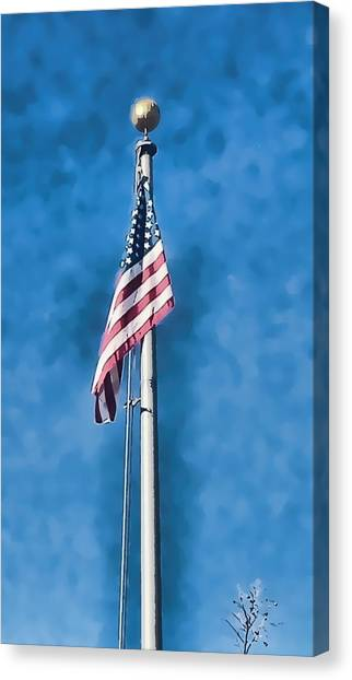 American Flag 'painted' Canvas Print