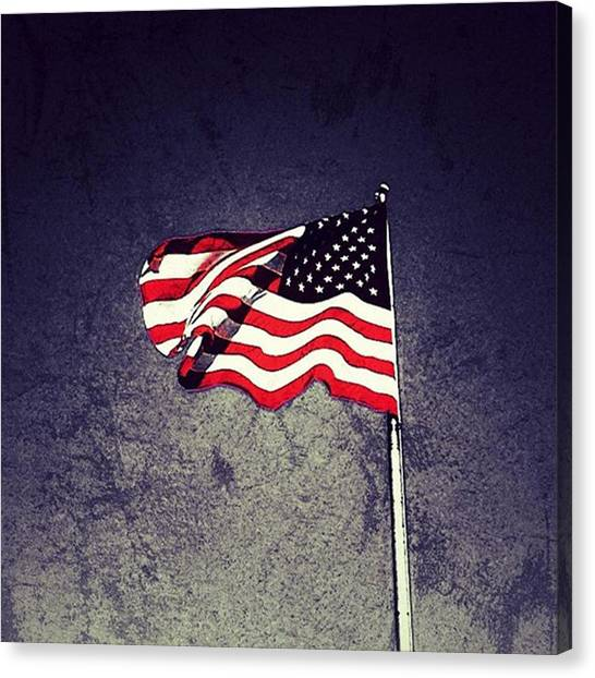United States Of America Canvas Print - American Flag by Phunny Phace