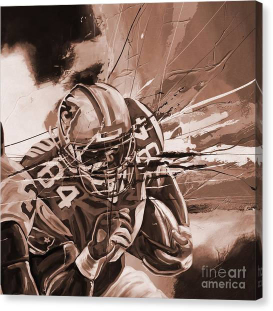 Johnny Manziel Canvas Print - American Football 0061e by Gull G