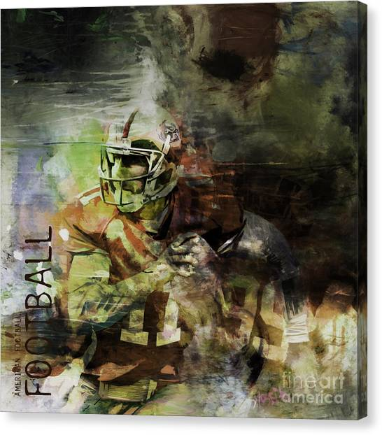 Johnny Manziel Canvas Print - American Football 023 by Gull G