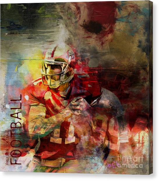 Johnny Manziel Canvas Print - American Football 091 by Gull G
