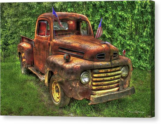 American Ford 1950 F-1 Ford Pickup Truck Art Canvas Print