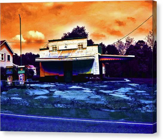 American Gas Canvas Print by David A Brown