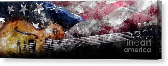 Mandolins Canvas Print - American Heritage by Jon Neidert