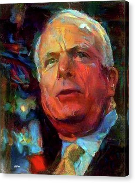 Republican Politicians Canvas Print - American Hero by G Berry
