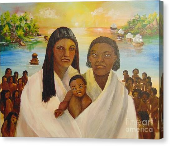 Canvas Print featuring the painting American Holocaust Survivors by Saundra Johnson