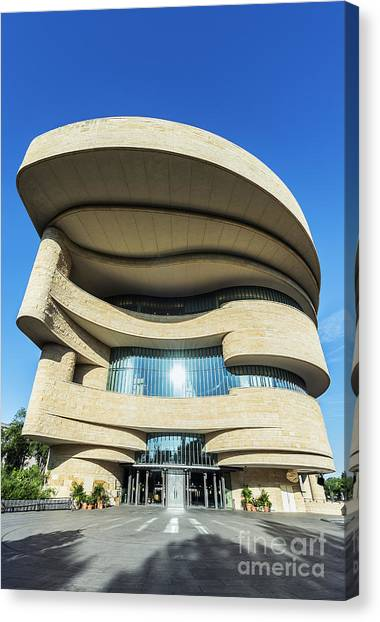 Curvilinear Canvas Print - American Indian Museum by John Greim
