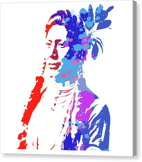 American Indians Canvas Print - American Indian Woman by Greg Joens