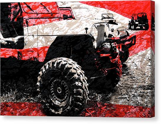 Gumbo Canvas Print - American Jeep Cj - Boulder Approved Mud Bog Ready by Luke Moore