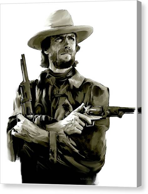 American Outlaw V Clint Eastwood Canvas Print