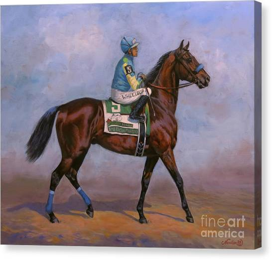 Thoroughbreds Canvas Print - American Pharoah by Jeanne Newton Schoborg