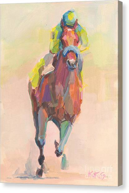 Kentucky Derby Canvas Print - Champion by Kimberly Santini