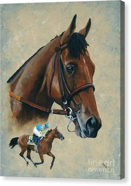 Thoroughbreds Canvas Print - American Pharoah by Pat DeLong