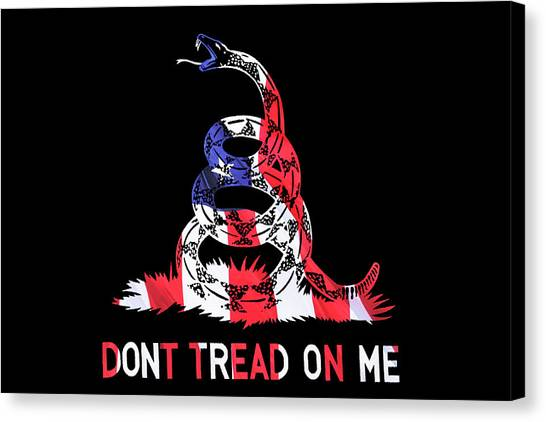 Libertarian Canvas Print - American Pride Don't Tread On Me Horizontal by Luke Moore