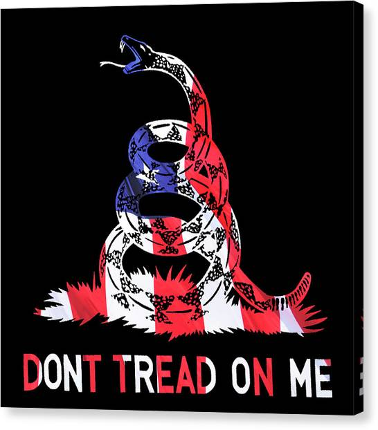 Libertarian Canvas Print - American Pride Don't Tread On Me Square by Luke Moore