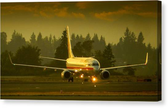 American Ready For Take-off Canvas Print