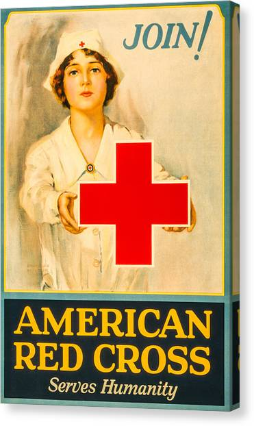 Obamacare Canvas Print - American Red Cross Nurse by David Letts