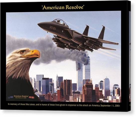 Missles Canvas Print - American Resolve by Mike Roberts