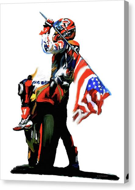 American Revolution Four Nicky Hayden Canvas Print