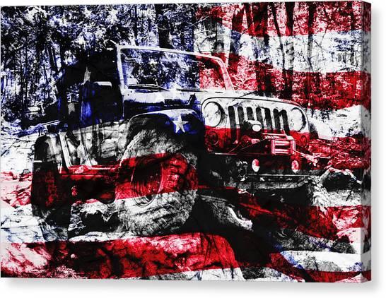 Offroading Canvas Print - American Rock Crawler by Luke Moore