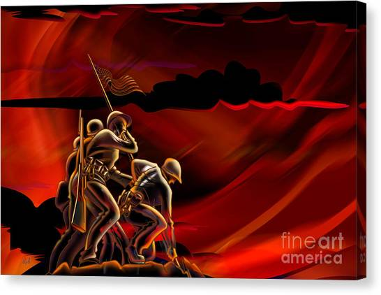 Us Civil War Canvas Print - American Soldiers by Peter Awax
