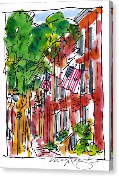 American Street Philadelphia Canvas Print