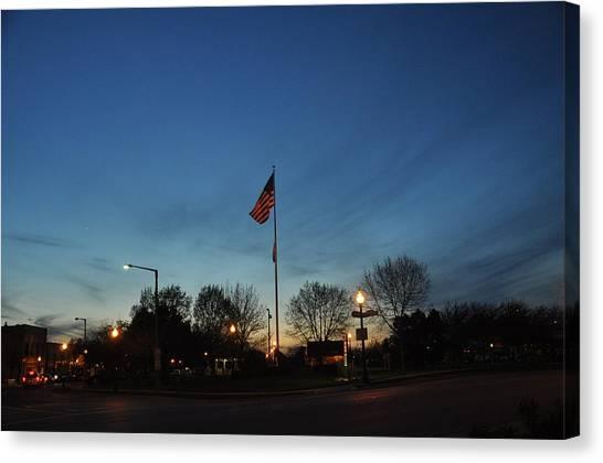 American Sunset Canvas Print