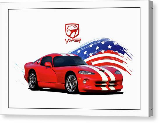 Viper Canvas Print - American Viper by Peter Chilelli