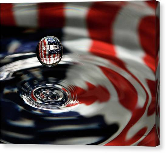 American Water Drop Canvas Print
