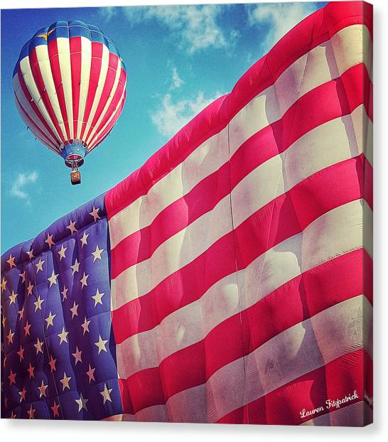 Hot Air Balloons Canvas Print - Americana by Lauren Fitzpatrick