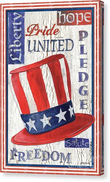 Pride Canvas Print - Americana Patriotic by Debbie DeWitt