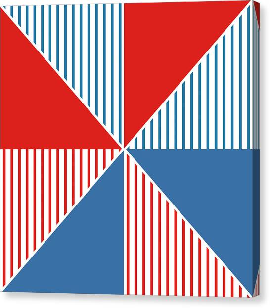 Triangles Canvas Print - Americana Pinwheel by Linda Woods