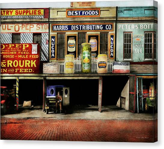 Mayonnaise Canvas Print - Americana - Signs - Feeding Time 1936 by Mike Savad