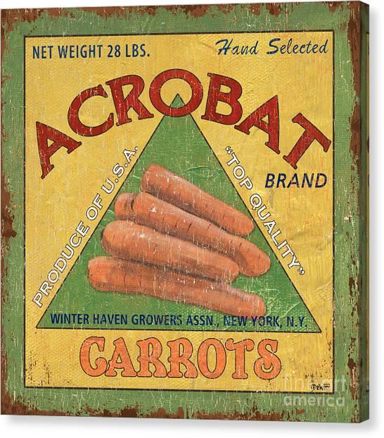 Carrot Canvas Print - Americana Vegetables 2 by Debbie DeWitt