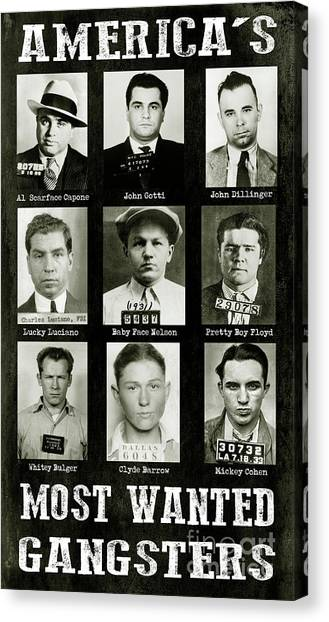Distillery Canvas Print - Americas Most Wanted Gangsters by Jon Neidert