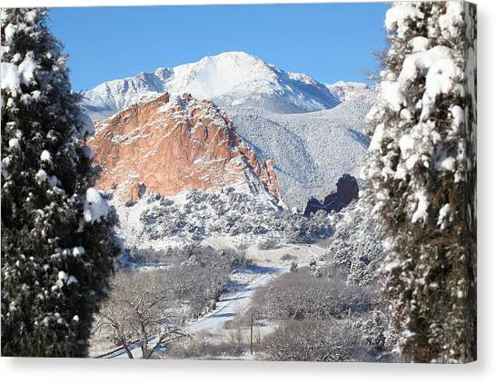 Cathedral Rock Canvas Print - America's Mountain by Eric Glaser