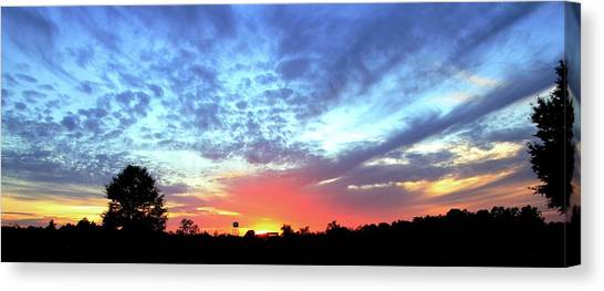 City On A Hill - Americus, Ga Sunset Canvas Print