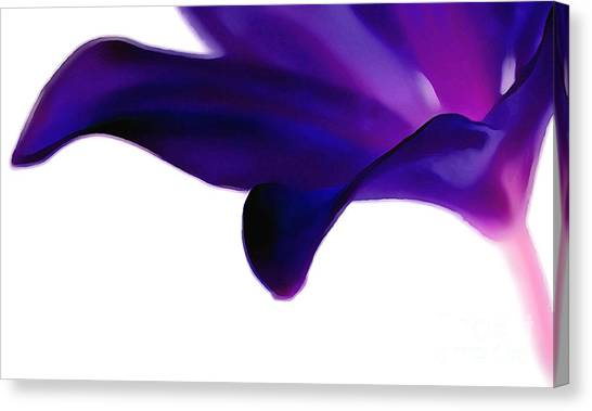 Abstract Lily Canvas Print - Amethyst Lily by Krissy Katsimbras