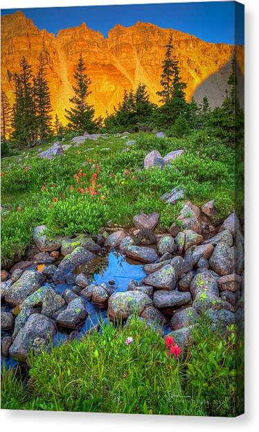 Uinta Canvas Print - Amethyst Sunset by James Zebrack