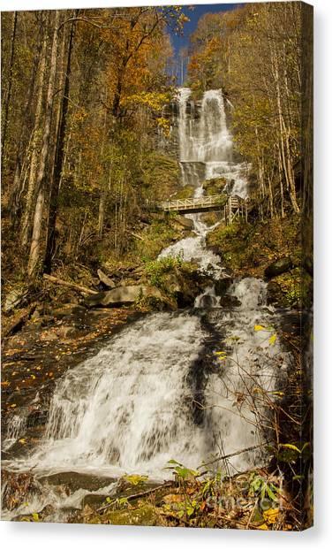 Amicola Falls Gushing Canvas Print