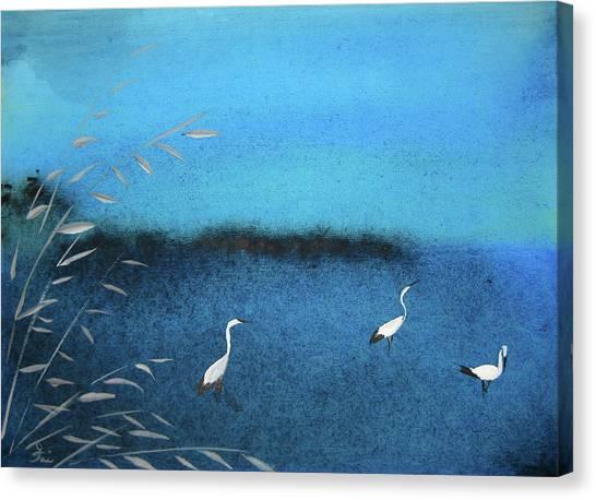 Amidst  The Rain And Gloom Canvas Print