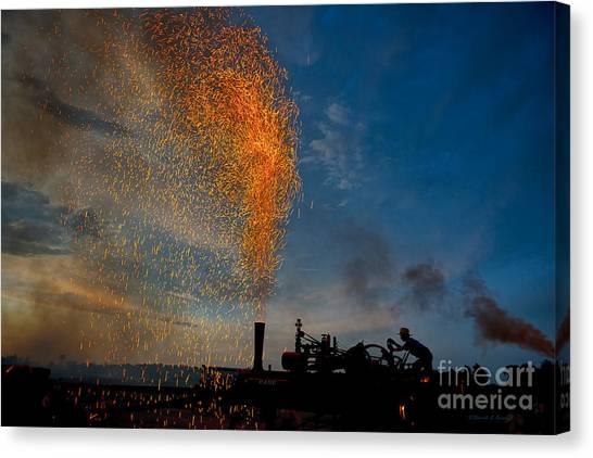 Amish Fireworks Canvas Print