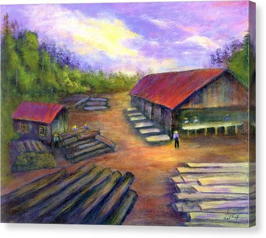 Amish Lumbermill Canvas Print